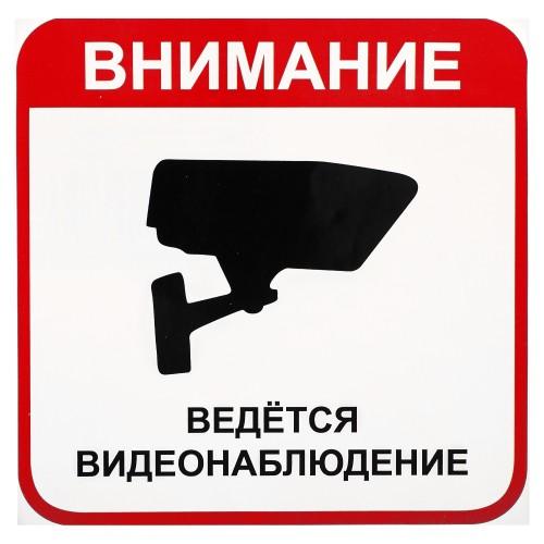 Наклейка «Ведётся видеонаблюдение» большая пластик