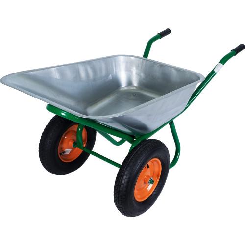 Тачка садовая на двух колёсах усиленная 320 кг/100 л
