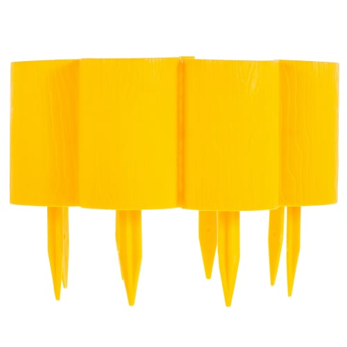 Бордюр декоративный «Пеньки» цвет жёлтый