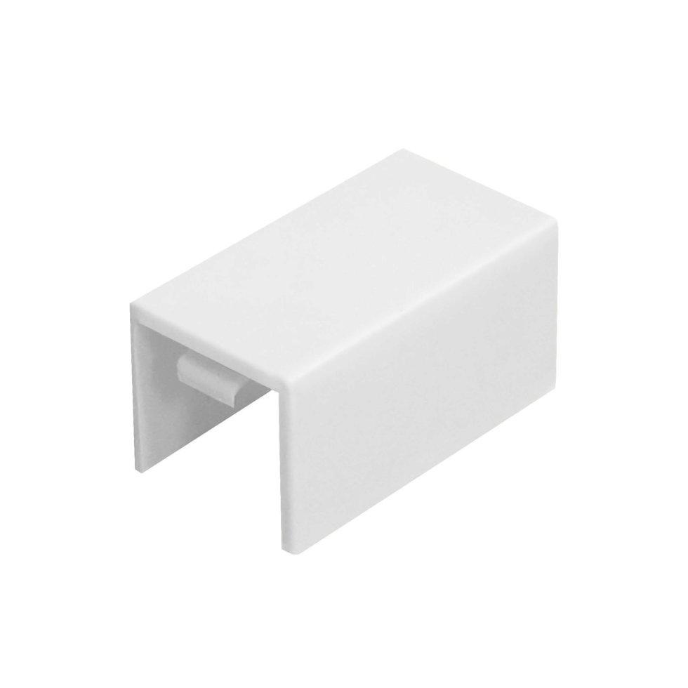 Соединение на стык 16/16 мм цвет белый 4 шт.