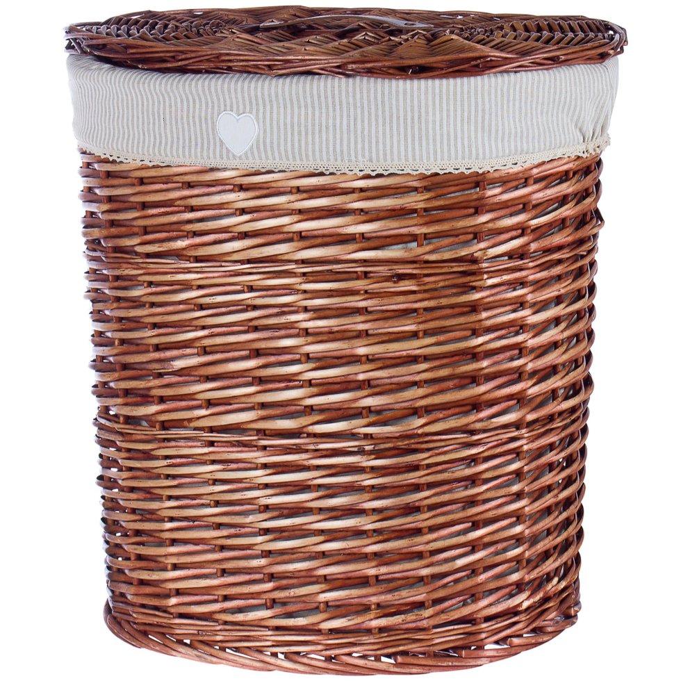 Корзина для белья «Полоска» цвет коричневый