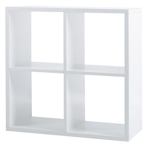 Стеллаж 4 секции 70x70x31 см цвет белый