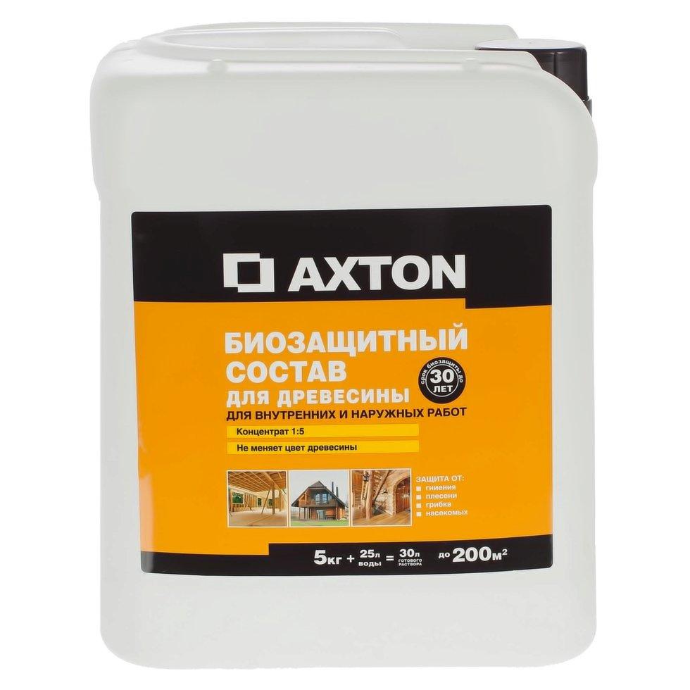 Антисептик для внутренних и наружных работ Axton 30 лет 1:5 5 кг