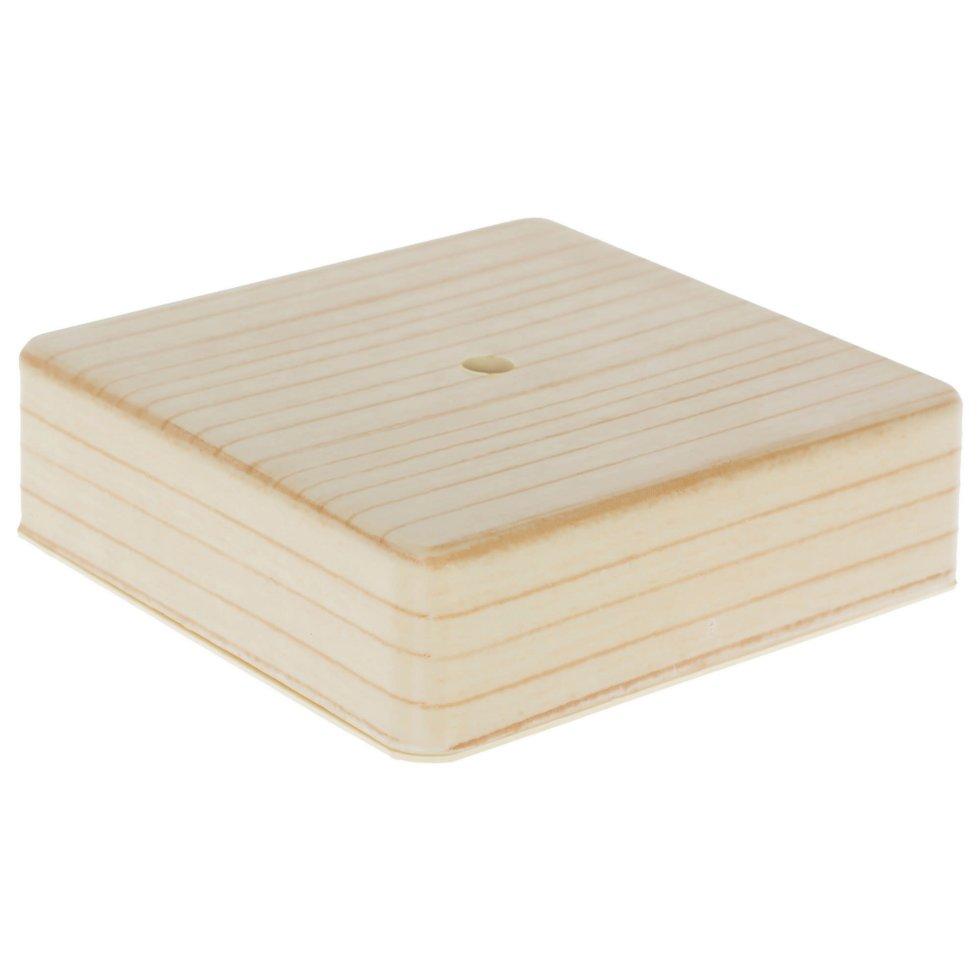Коробка распределительная ОП 100х100х29 мм цвет сосна