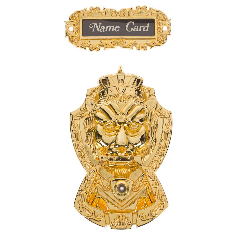 Молоток дверной Manzzaro Leoncino 10/40, цвет глянцевое золото