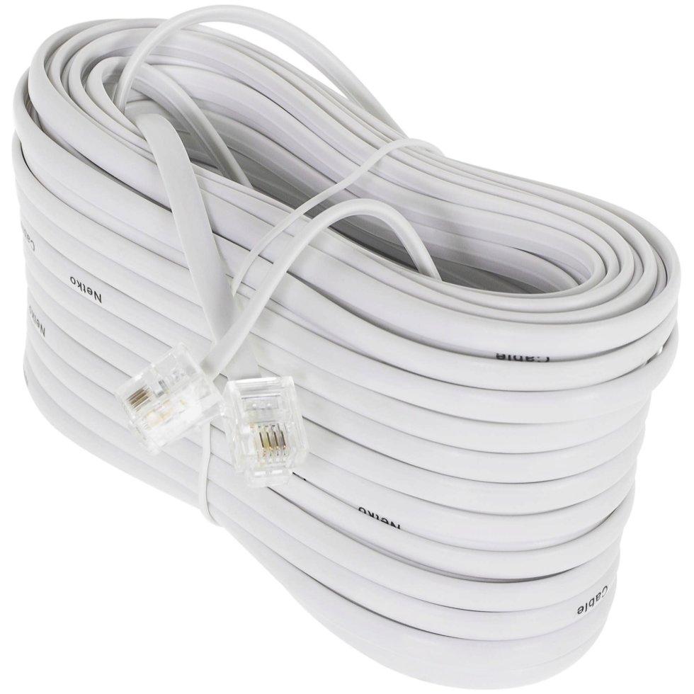 Провод телефонный 6P4C 20 м