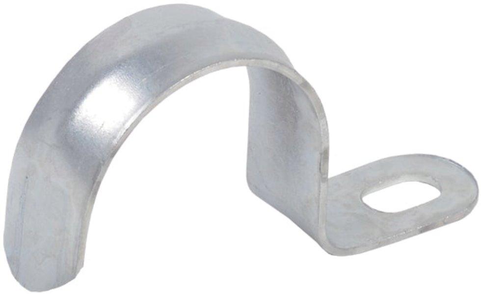 Скоба оцинкованная Iek с одним отверстием D15 мм 10 шт.