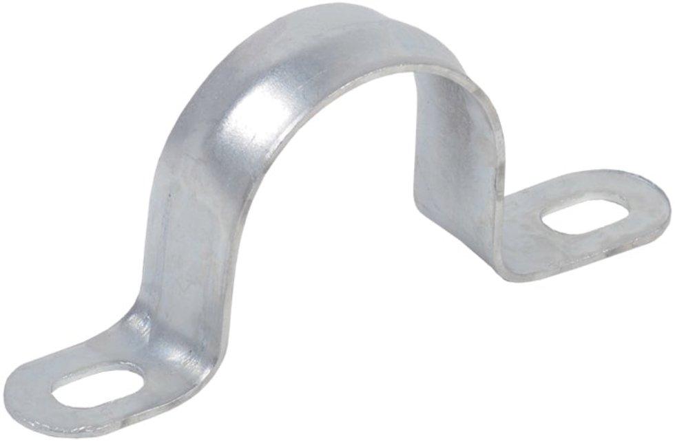 Скоба оцинкованная Iek двойным отверстием D15 мм 10 шт.