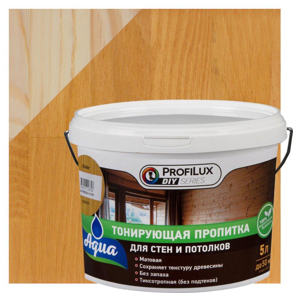 Пропитка для стен и потолка, 5 л, цвет сосна