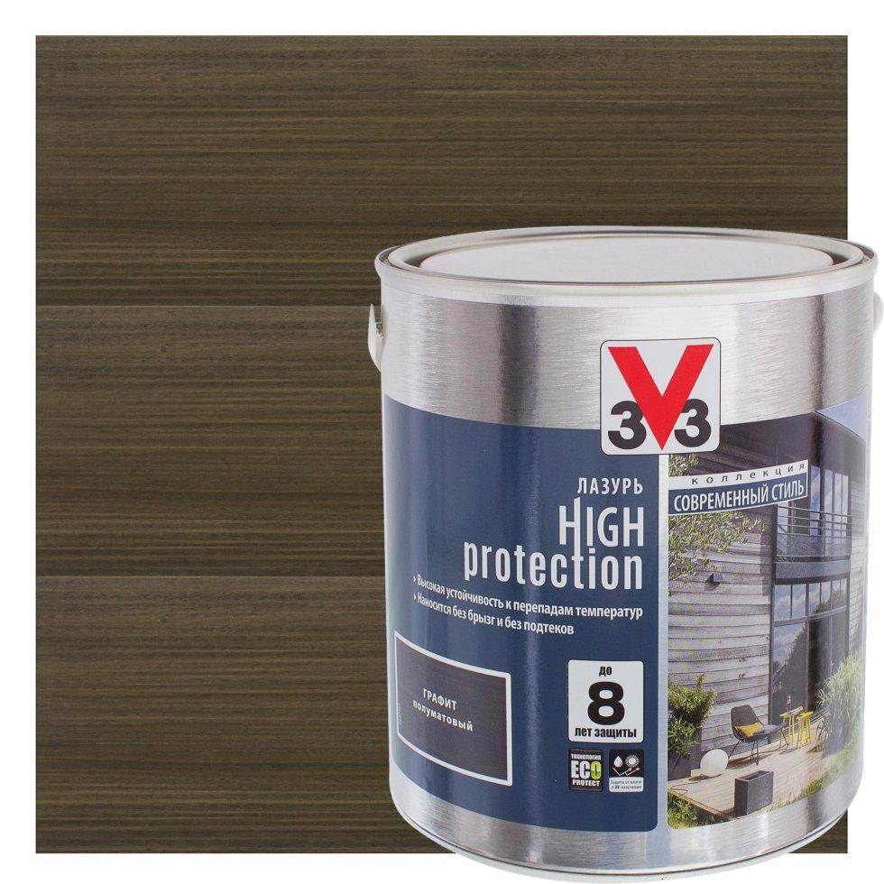 Лазурь Модерн V33 цвет графитовый 2.5 л