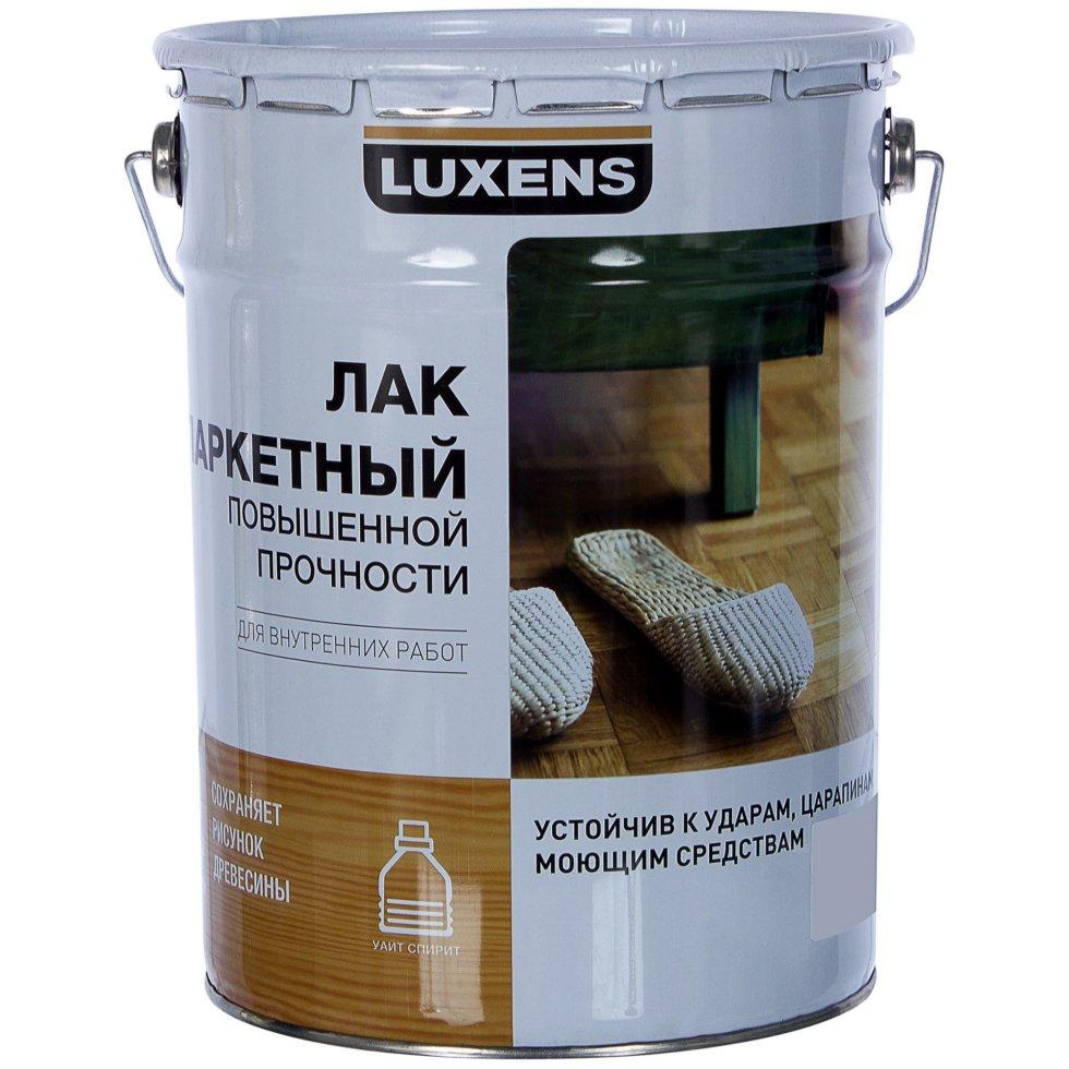 Лак паркетный Luxens алкидно-уретановый глянцевый бесцветный 5 л