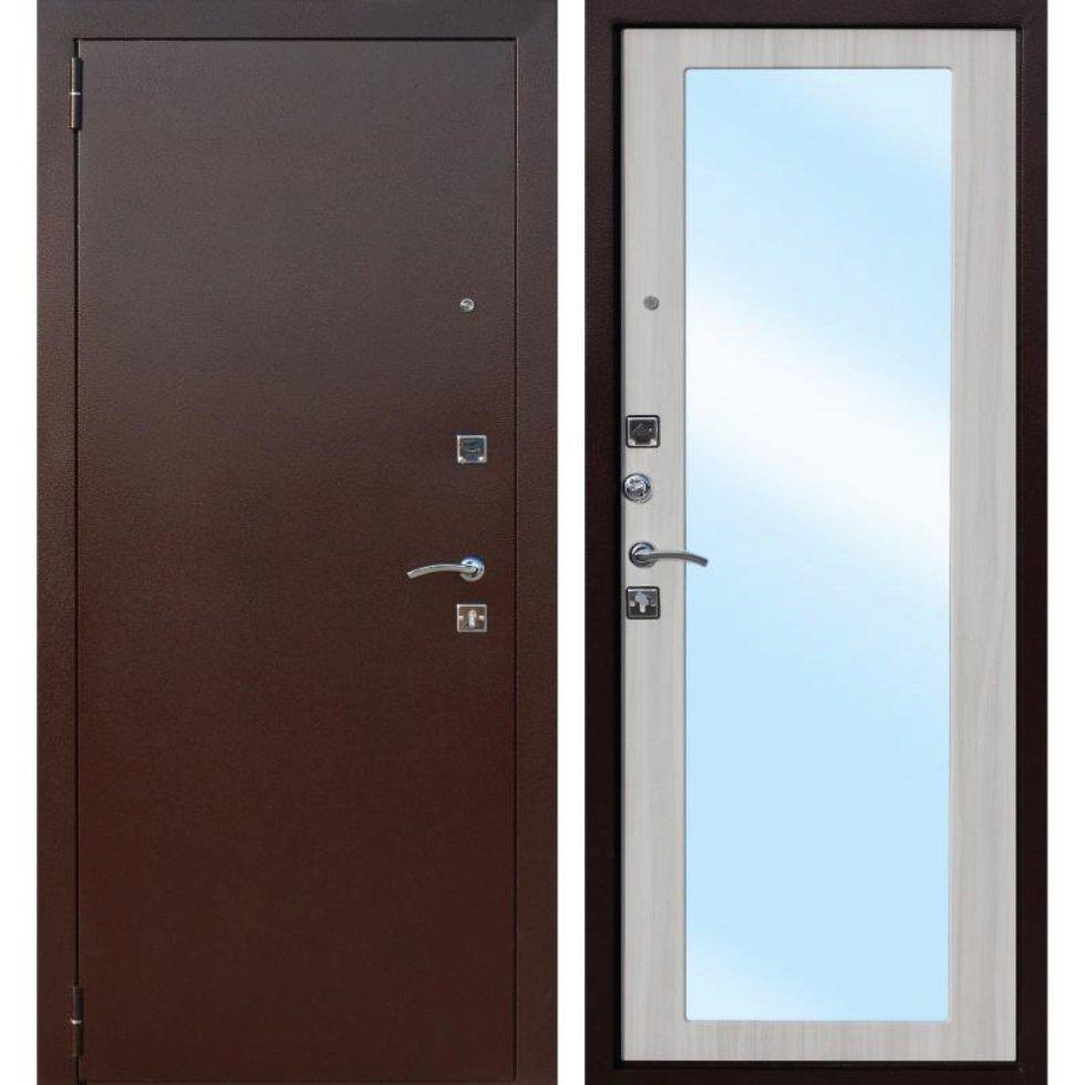 Дверь входная металлическая Царское зеркало Maxi, 860 мм, левая, цвет дуб сонома