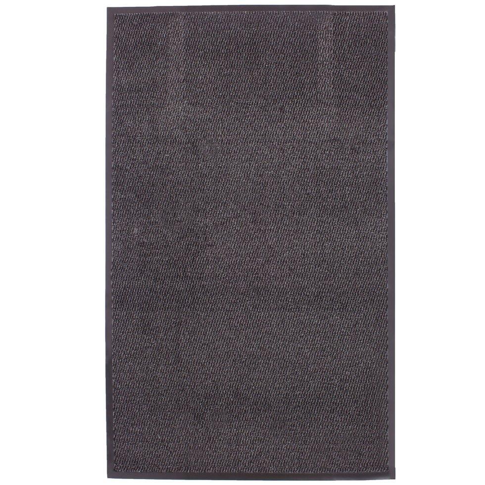 Коврик «Step» полипропилен 90x150 см цвет серый