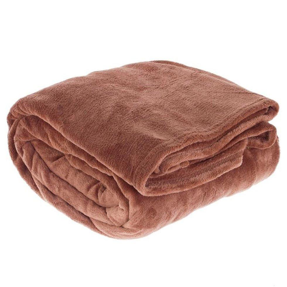 Плед «Prestige» 200х220 см микрофибра цвет коричневый