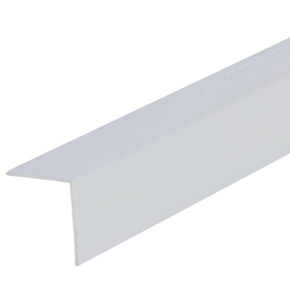 Угол 20x20x2700 мм, ПВХ, цвет бьянко
