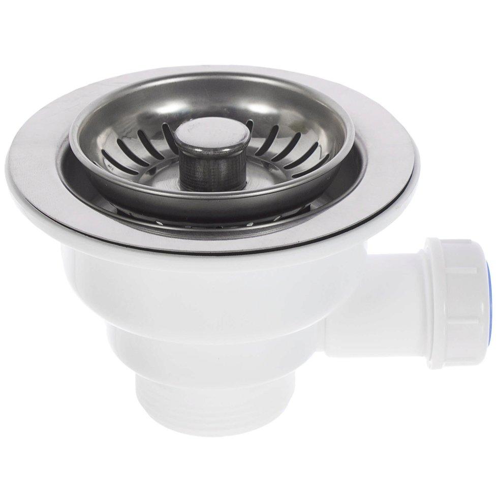 Выпуск Equation для кухонной мойки с универсальным переливом d 90 мм