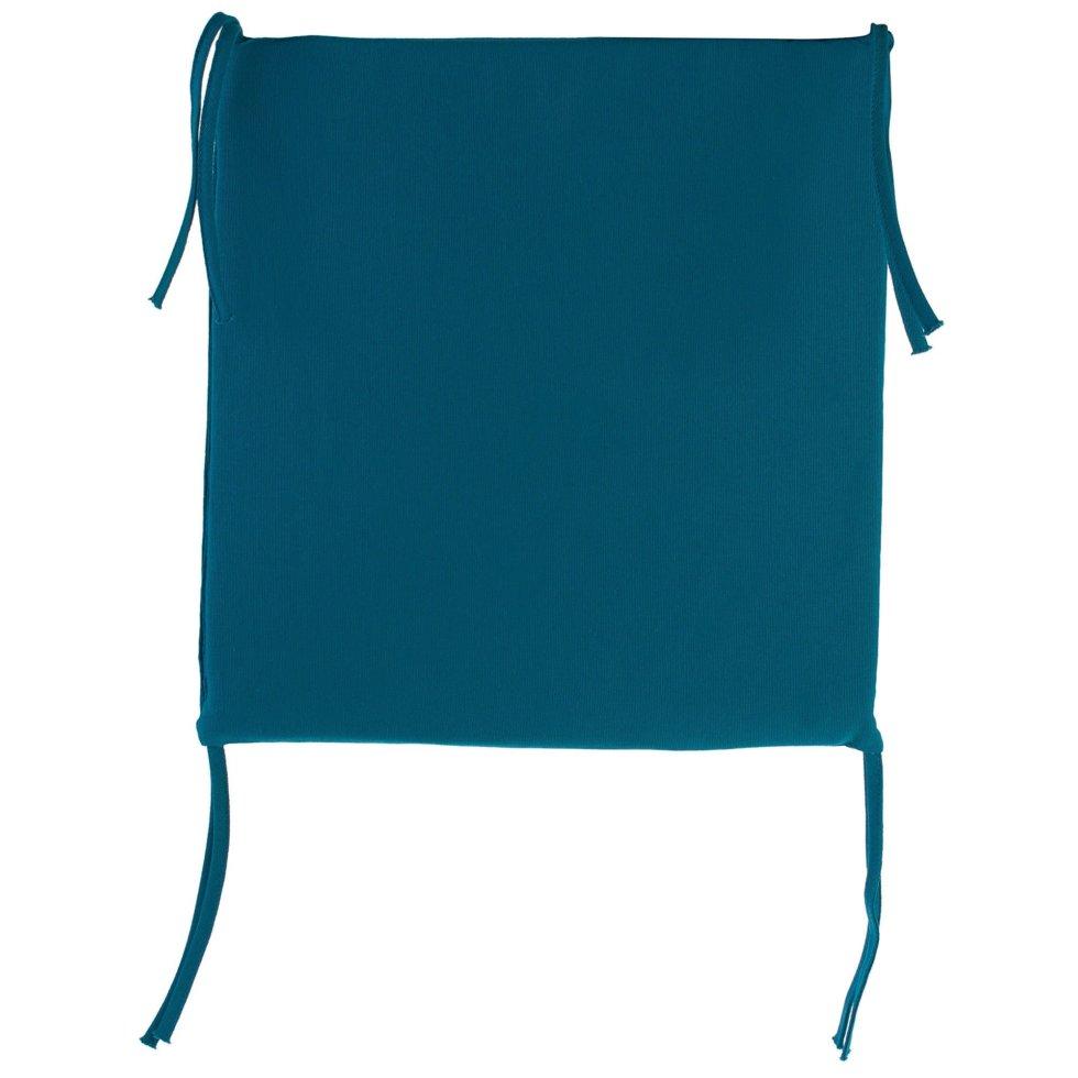 Галета для стула 35х35х2 см цвет бирюзовый