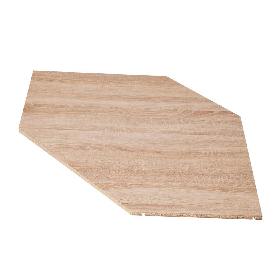 Полка угловая для шкафа Лион, 838x838 мм, 2 шт.