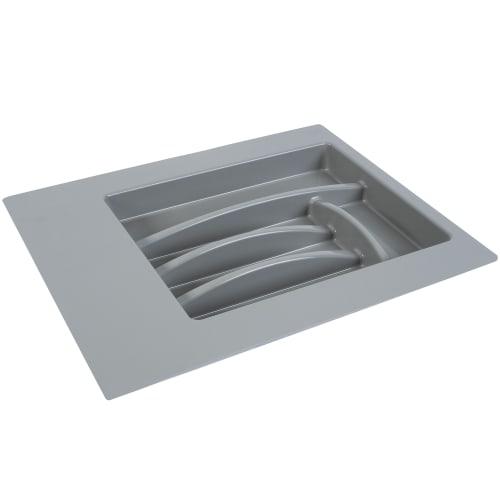Лоток для столовых приборов 400-450 мм, пластик, цвет серый