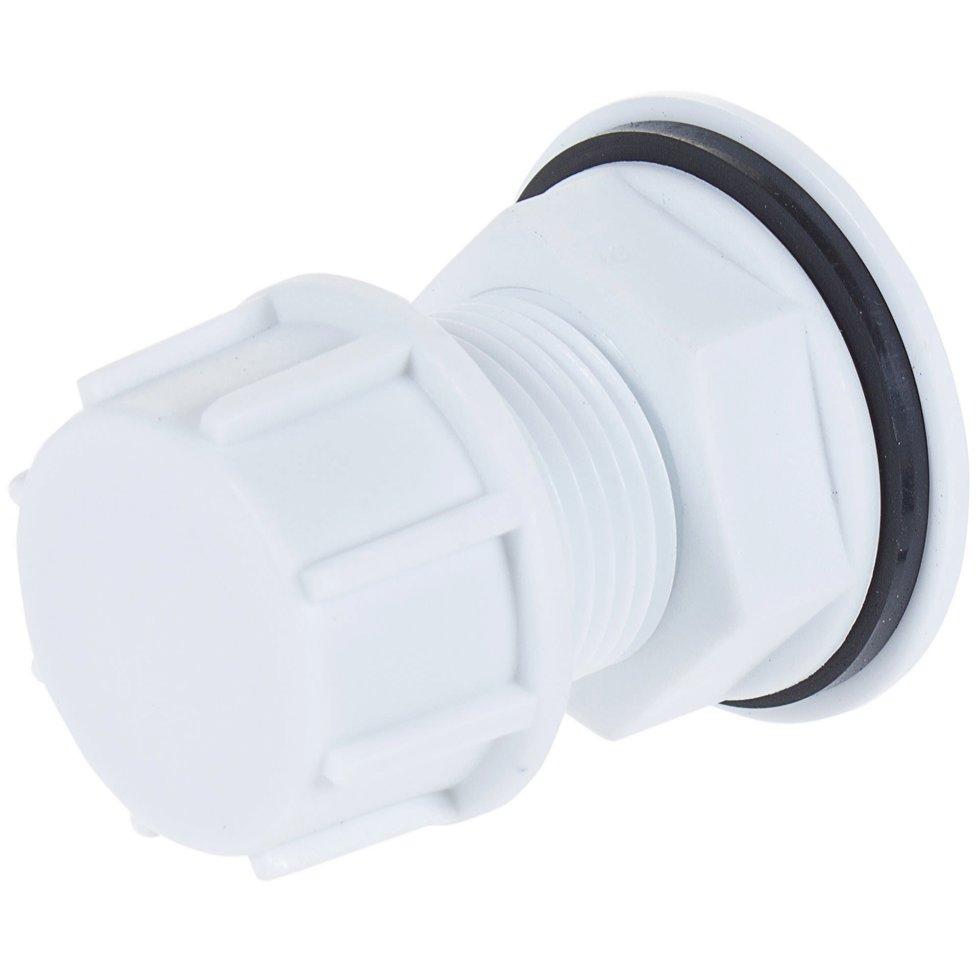 Врезка в бочку 3/4 мм пластик