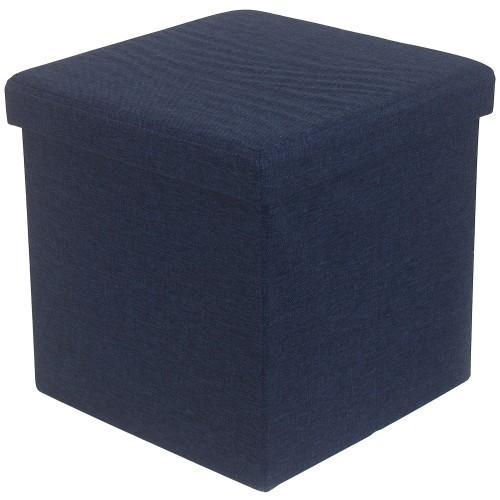 Пуф складной с отделением для хранения, 38x38x38 см, цвет голубой