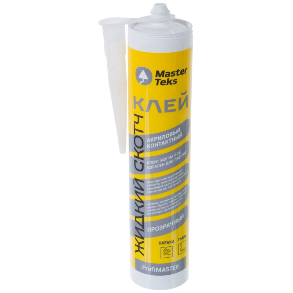 Клей Masterteks жидкий скотч 0.28 кг цвет бесцветный