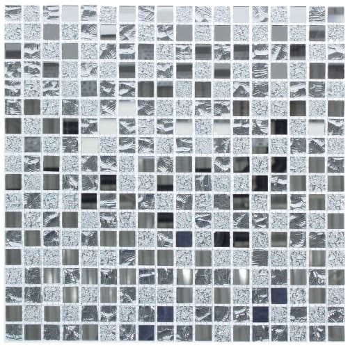 Мозаика Artens «Silver», 30х30 см, стекло, цвет серый