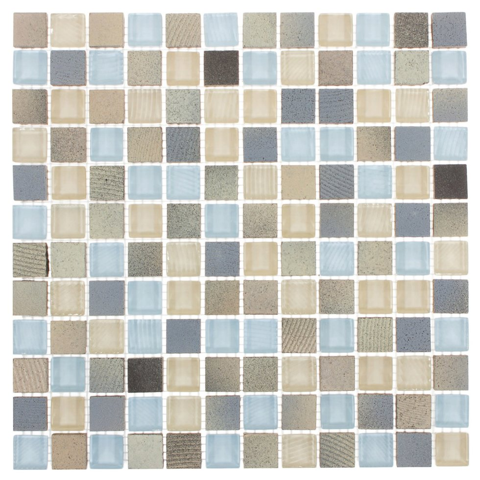 Мозаика Artens «Fsn», 30х30 см, стекло, цвет голубой