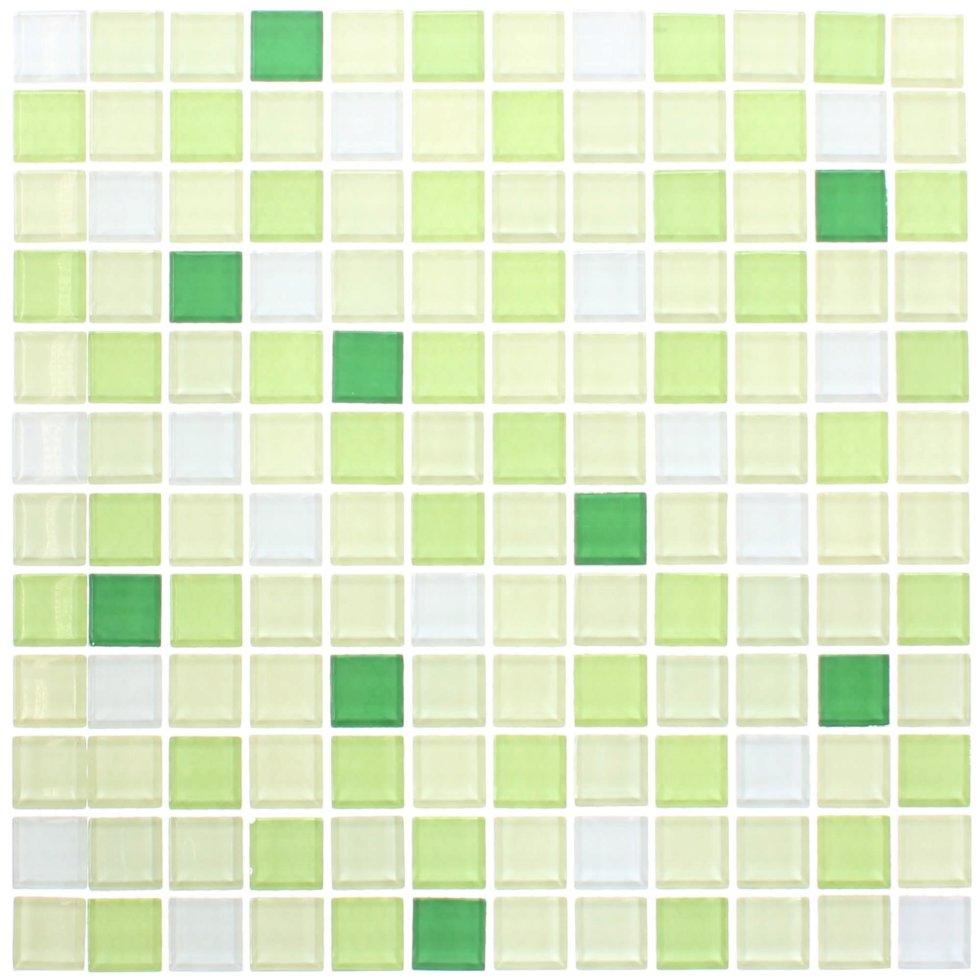 Мозаика Artens «Shaker», 30х30 см, стекло, цвет зелёный