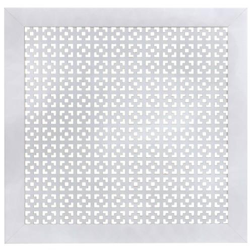 Экран для радиатора Дамаско 60х60 см, цвет белый
