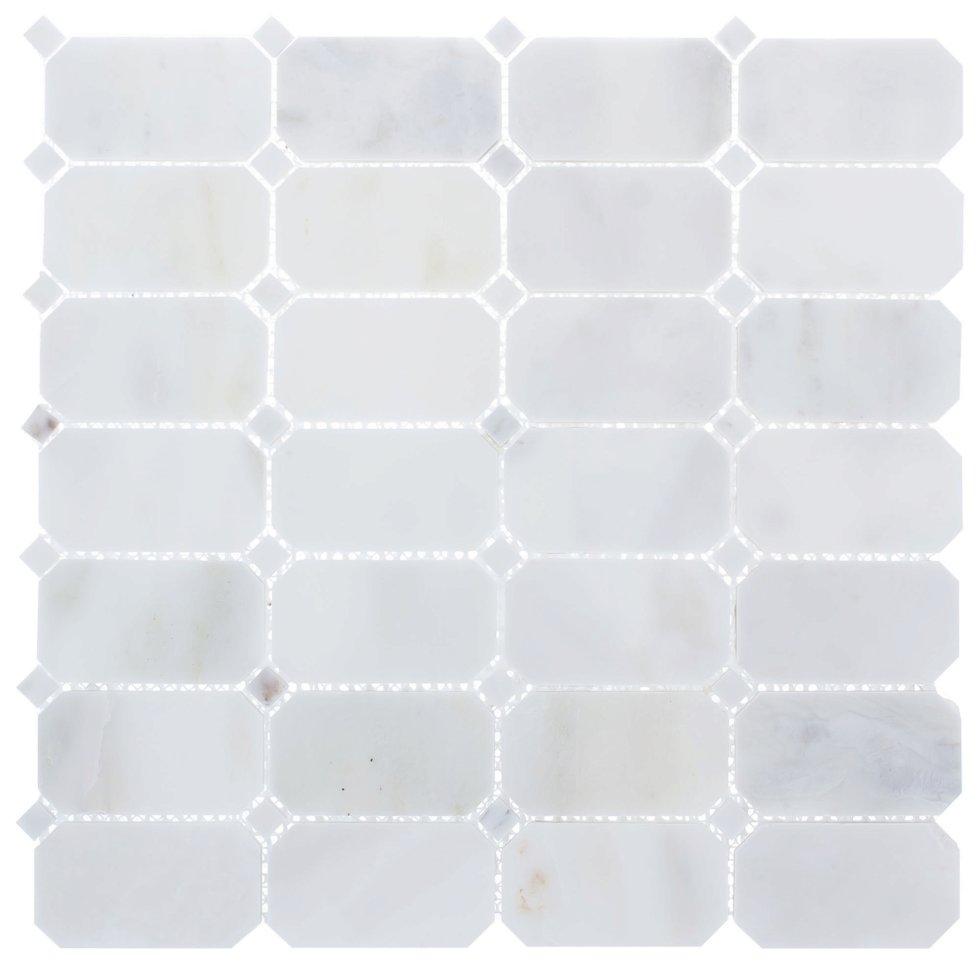 Мозаика Artens «White», 30х30 см, мрамор, цвет белый