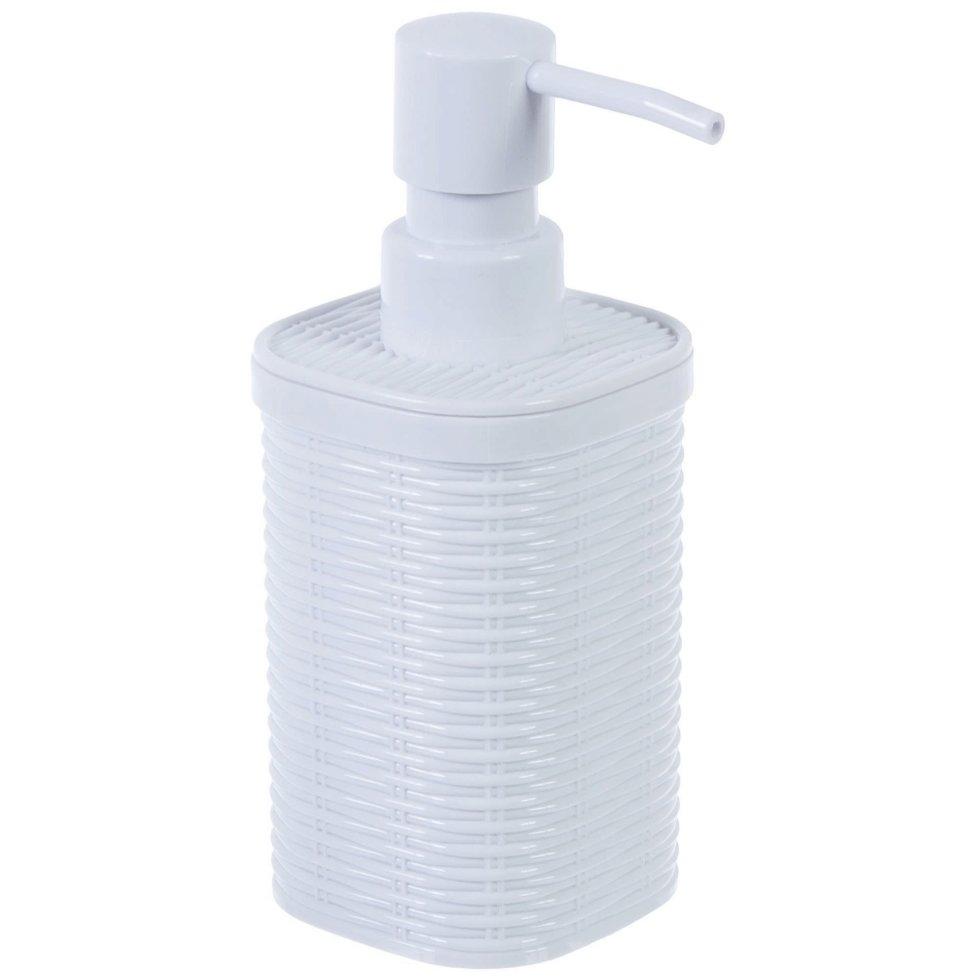 Дозатор для жидкого мыла настольный «Roundy» пластик цвет белый