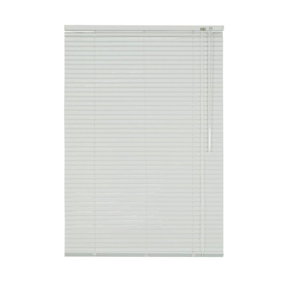Жалюзи, алюминий, 60х155 см, цвет белый