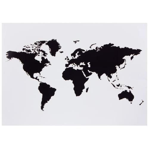Наклейка меловая для записей «Карта мира»