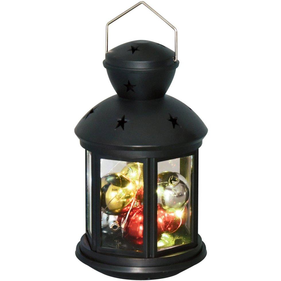 Фонарь Uniel 12х20 см RGB, цвет чёрный