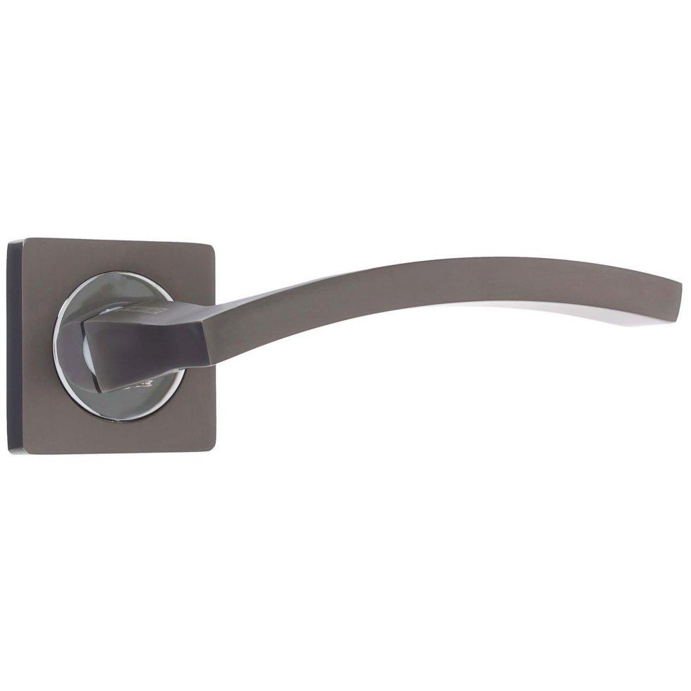 Ручка дверная на розетке AL 520-02 MBN, цвет матовый никель