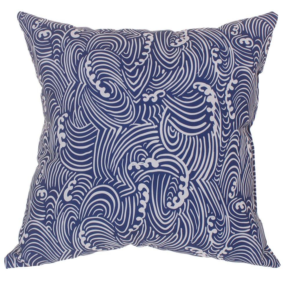 Подушка декоративная «Море, волна» 40х40 см цвет синий