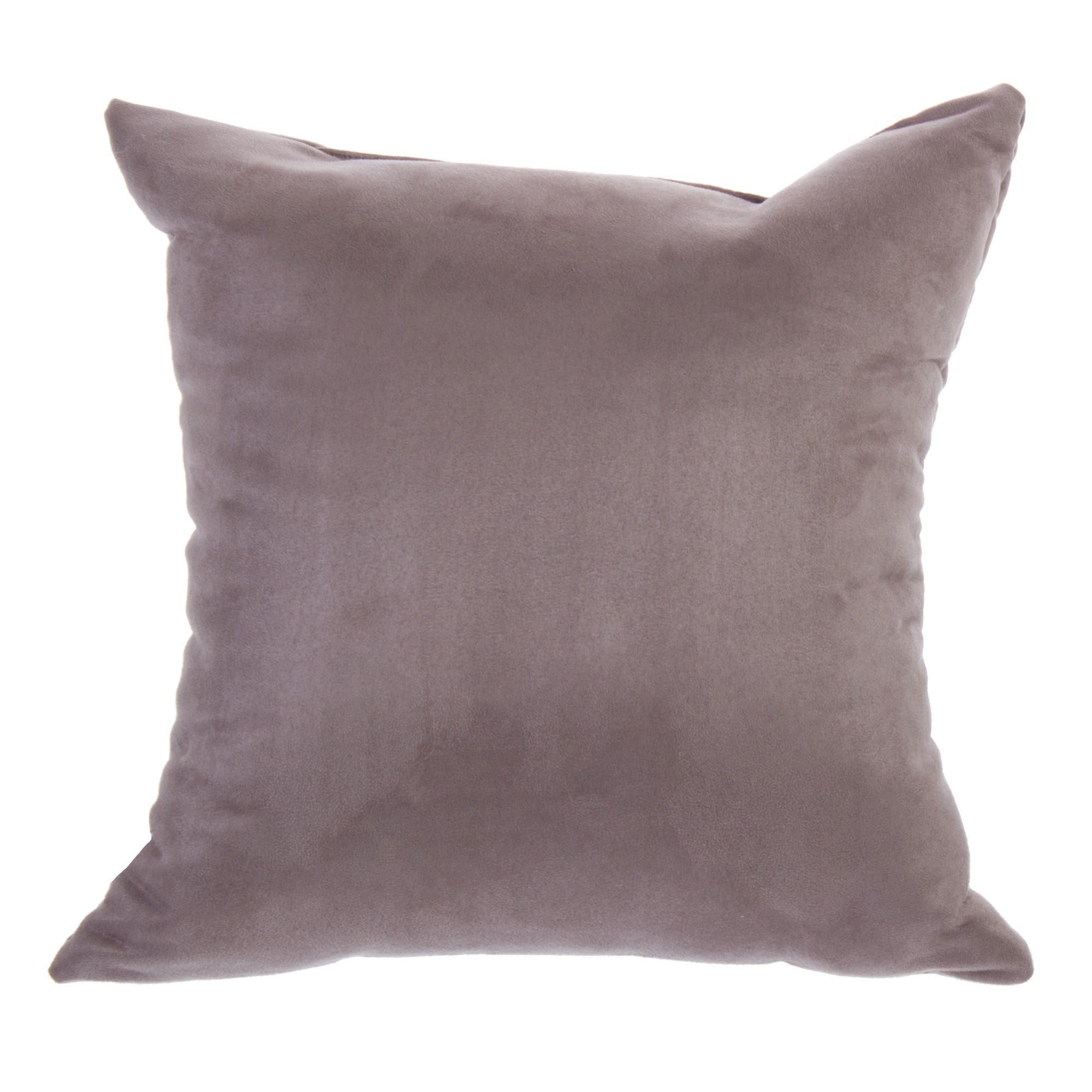 Подушка декоративная «Манчестер» 40х40 см цвет серый
