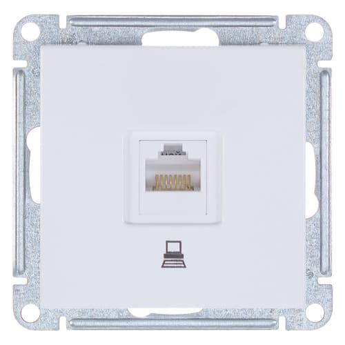 Розетка компьютерная W59 RJ45 кат.5E, цвет белый