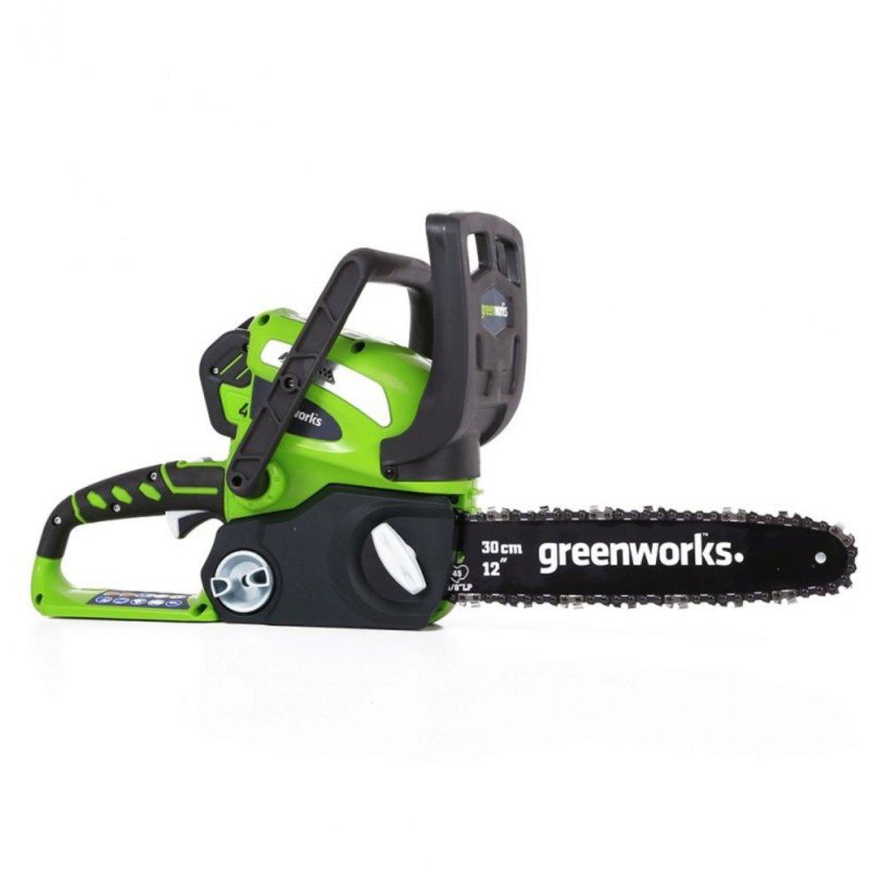 Пила цепная аккумуляторная Greenworks, 40 В, без аккумулятора и зарядного устройства