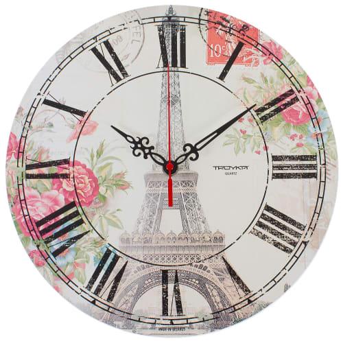 Часы настенные Париж диаметр 28.5 см