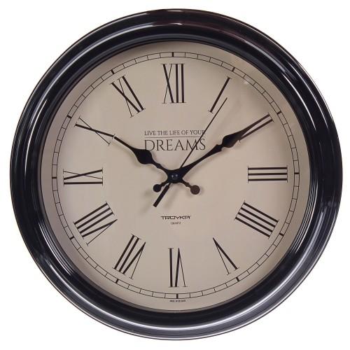 Часы настенные Объем цвет черный диаметр 30.5 см