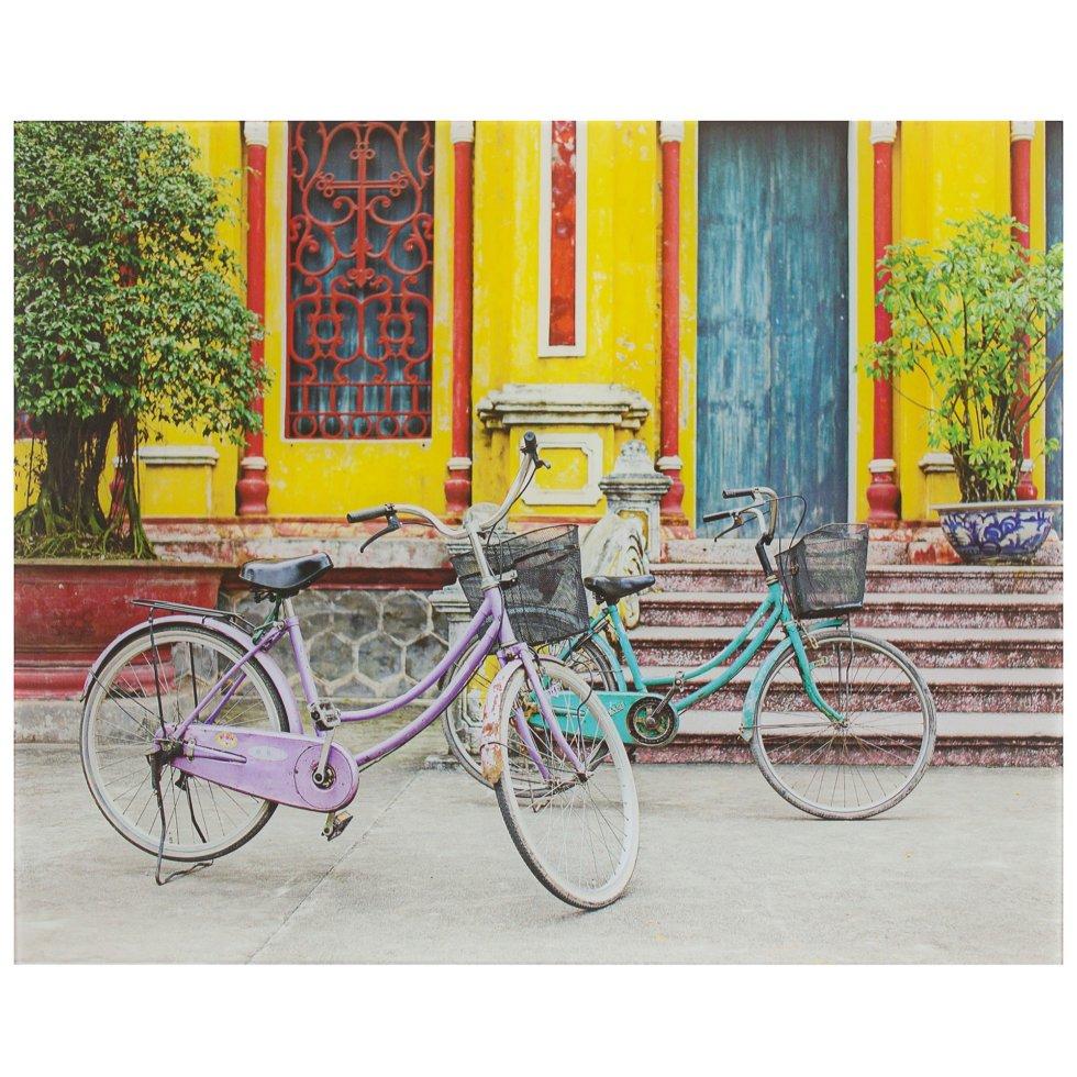 Картина на стекле 40х50 см «Два велосипеда»