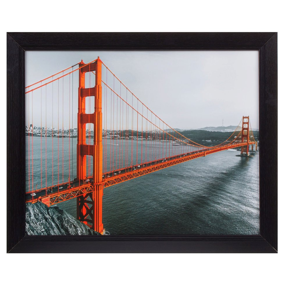 Картина в раме 40х50 см «Golden Gate»