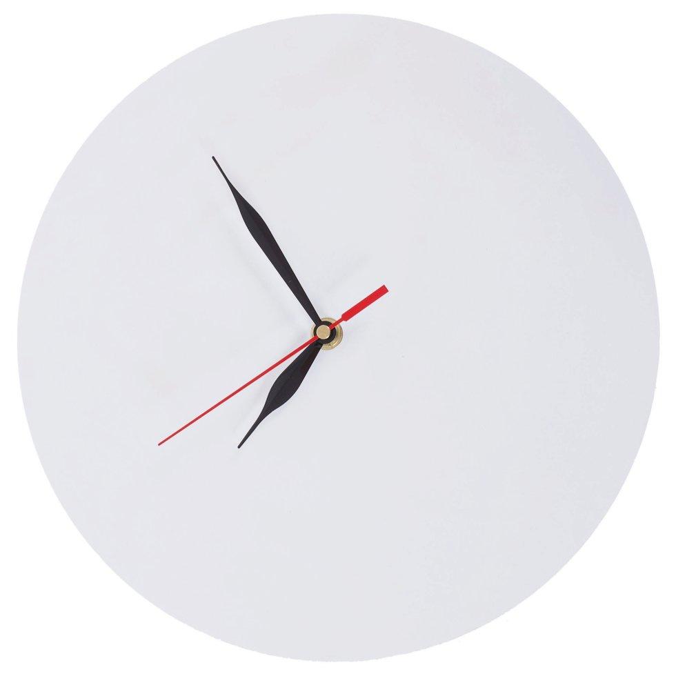 Часы настенные белые с возможностью декорирования диаметр 28.5 см