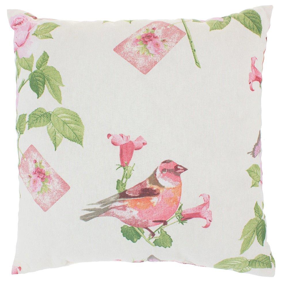 Подушка декоративная «Английский сад» 40х40 см цвет розовый