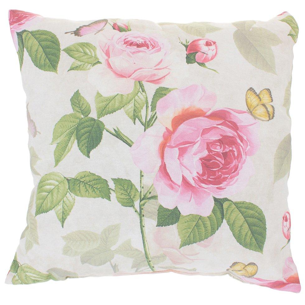Подушка декоративная «Садовый аромат» 40х40 см цвет розовый