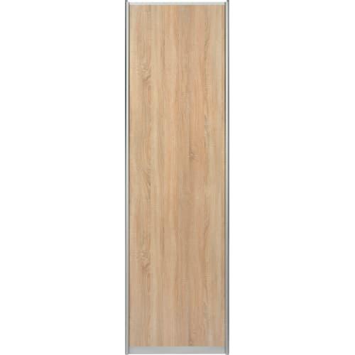 Дверь-купе Spaceo 2455х704 мм, высота проема 2500 мм, цвет дуб сонома/серебро