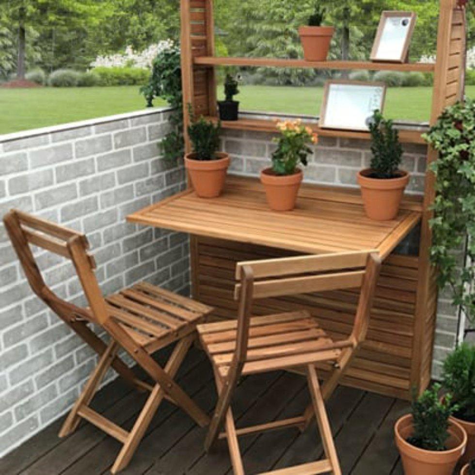 Набор садовой мебели «Порто Компакт Плюс», 3 предмета, акация