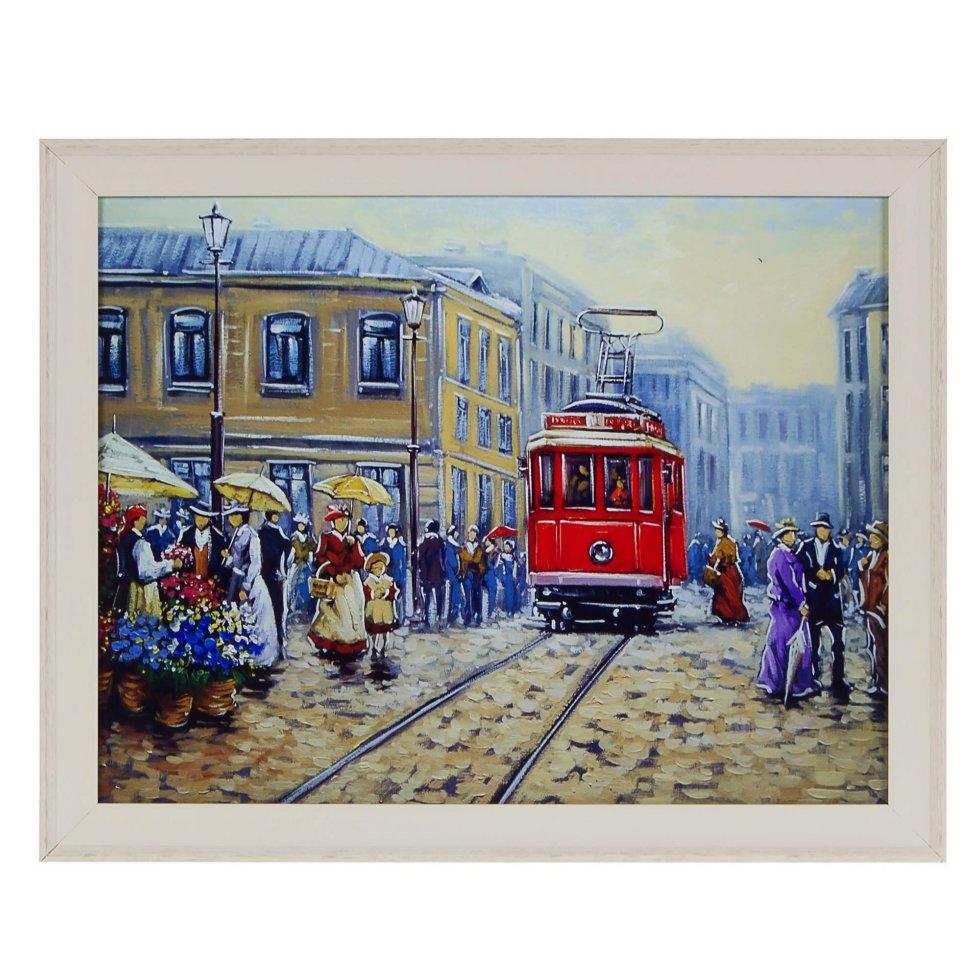 Картина в раме 40x50 см «Трамвай»